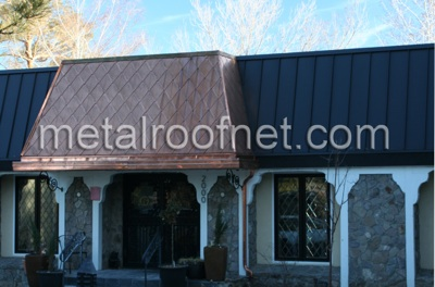 copper diamond shingles | Metal Roof Network