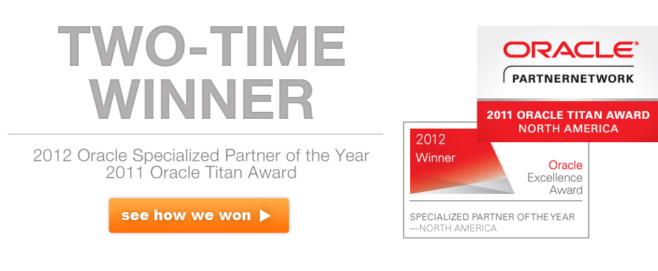 Oracle Excellence Award - Specialized Partner of the Year - BI Applications - Oracle Titan Award