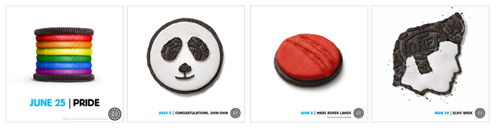 "Oreo's ""Daily Twist"" campaign utilized crowdsourcing"