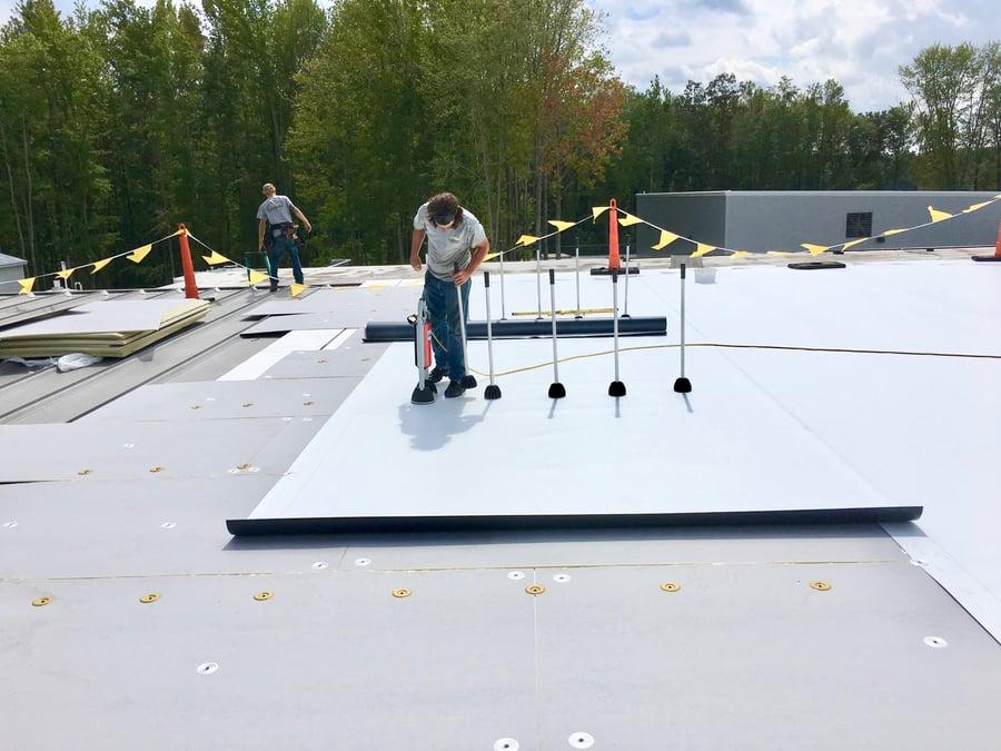 TPO over metal roof