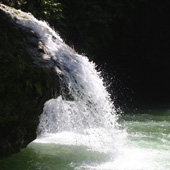 One of the mini falls at Kawasan
