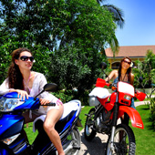 Explore the countryside on a rental motorbike from Turtle Bay Dive Resort