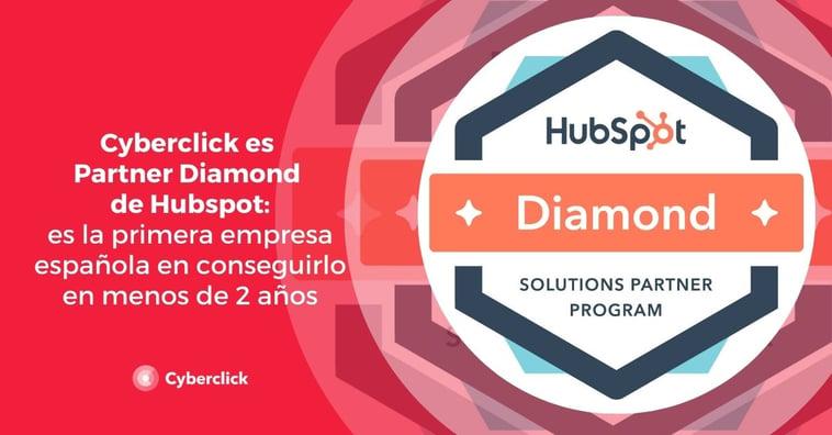 Cyberclick es la primera empresa española que consigue ser Partner Diamond de HubSpot en menos de 2 años