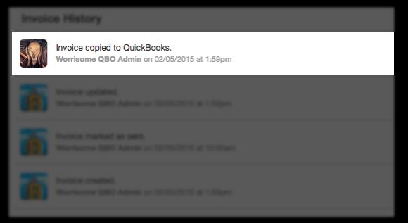 QBO Invoice History events