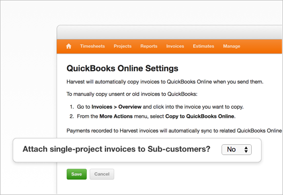 QBO Sub-customer setting