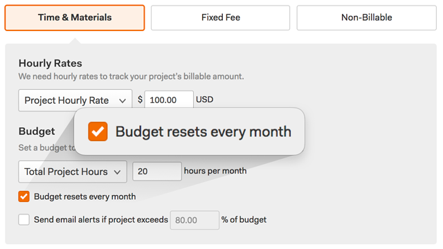 Budget resets every month