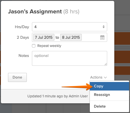 copy assignments