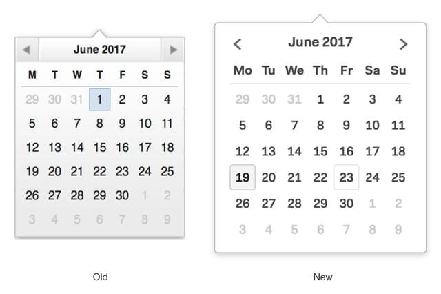 Compare Date Pickers