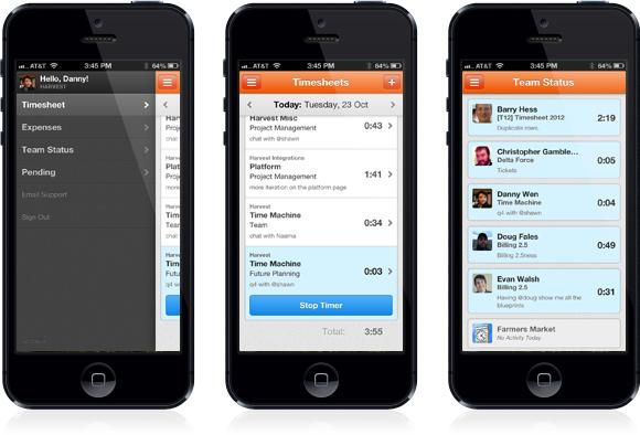 Harvest iPhone App 2.0