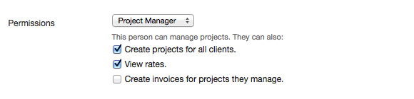 Permissions for project manager