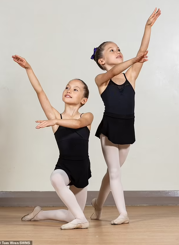 It's double pointes for our Year 5 twins