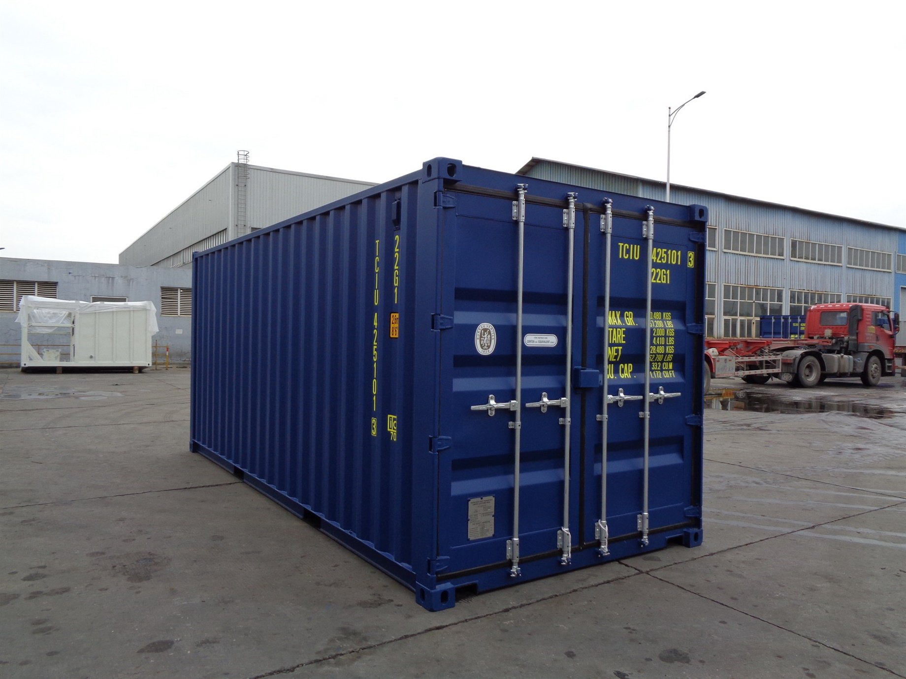 20 foot HC High Cube blue storage container titan containers