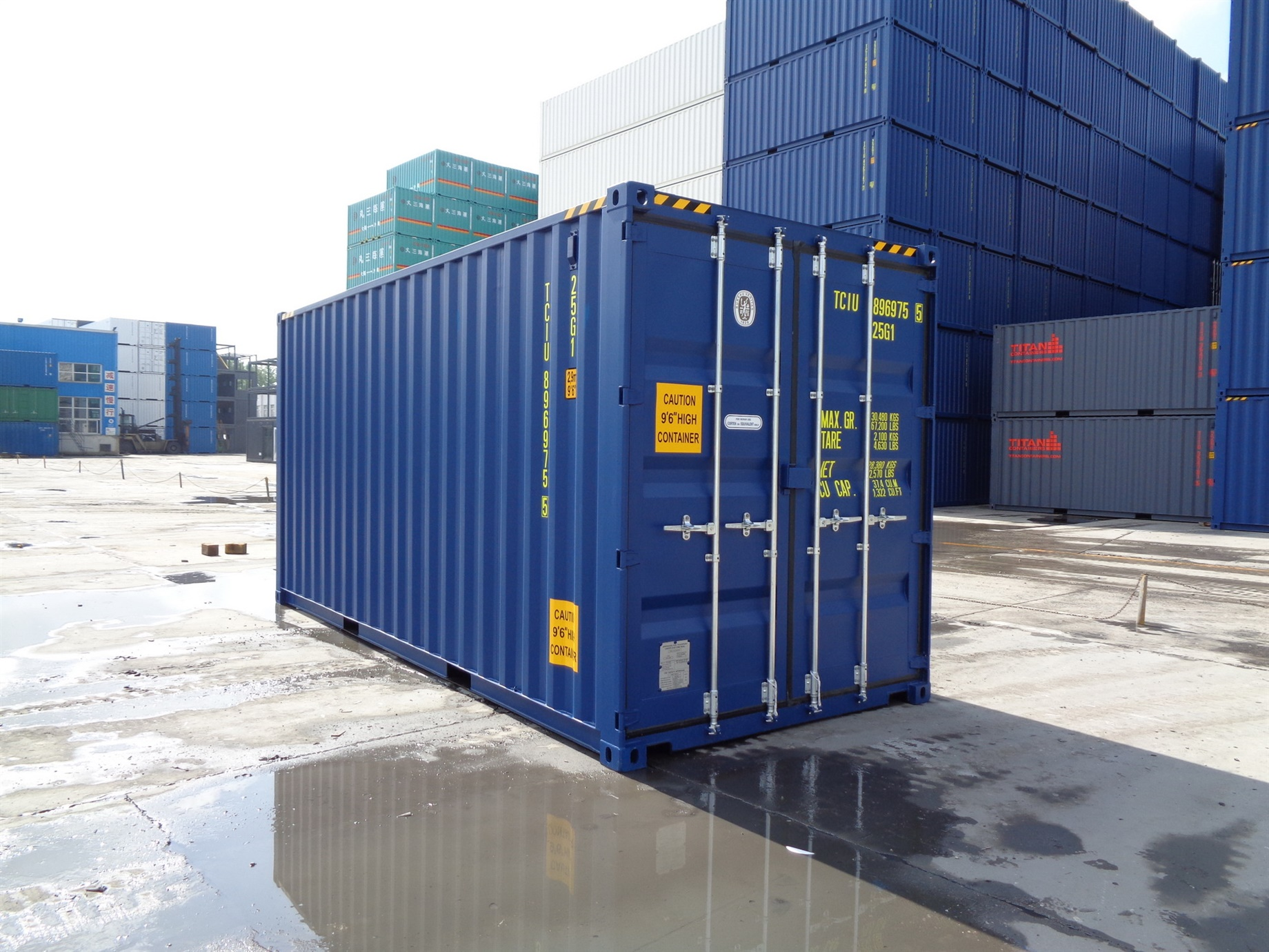 20 foot HC blue storage container titan containers