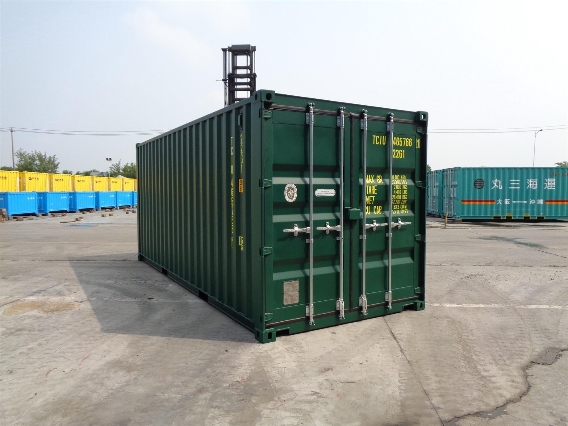 20 foot High Cube green storage container titan containers
