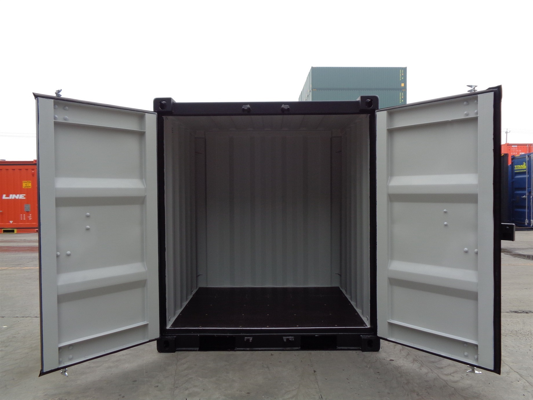 6 8 10 black doors open foot storage container TITAN Shiipping Containers