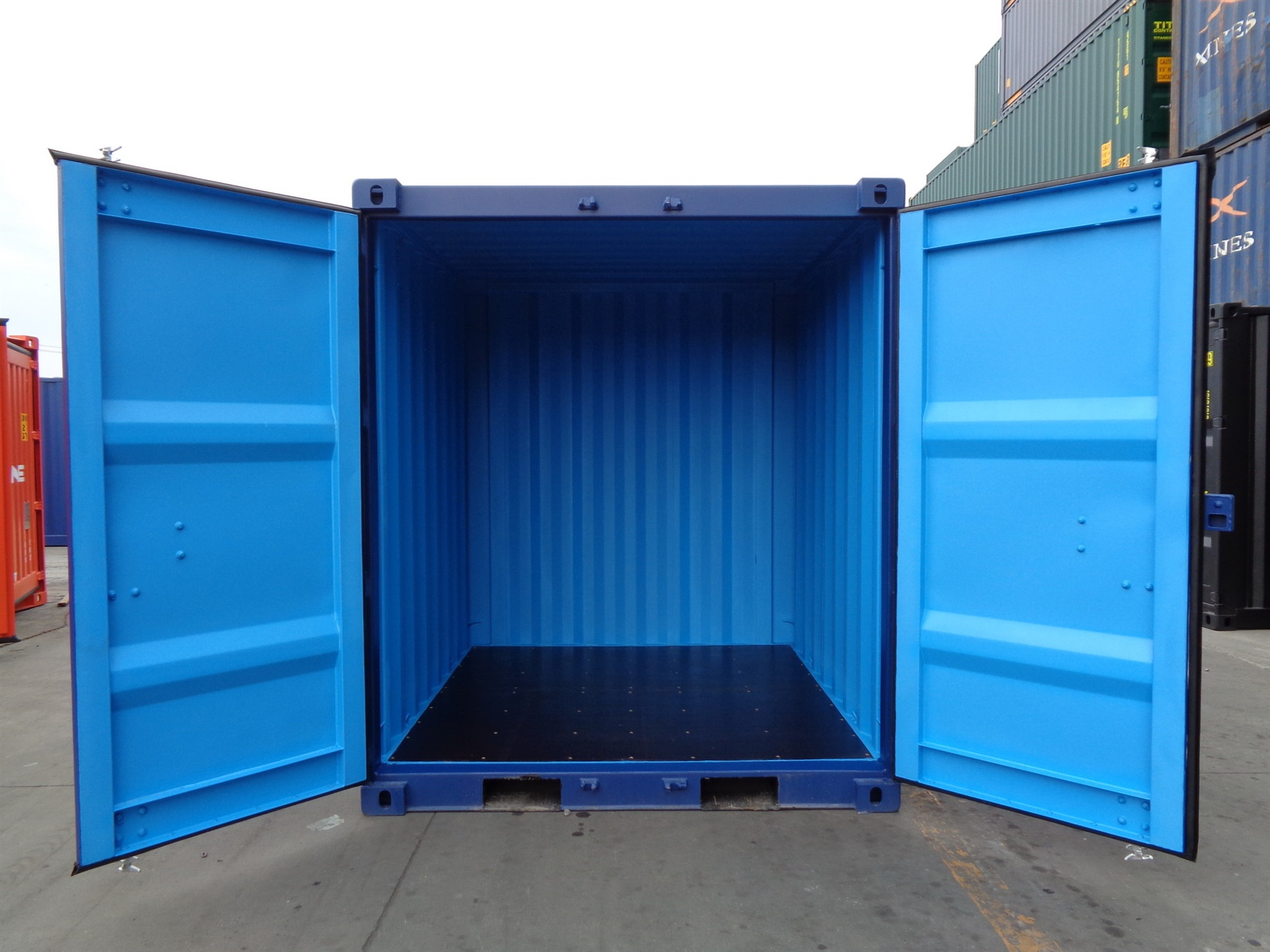 6 8 10 blue doors open foot storage container TITAN Shiipping Containers