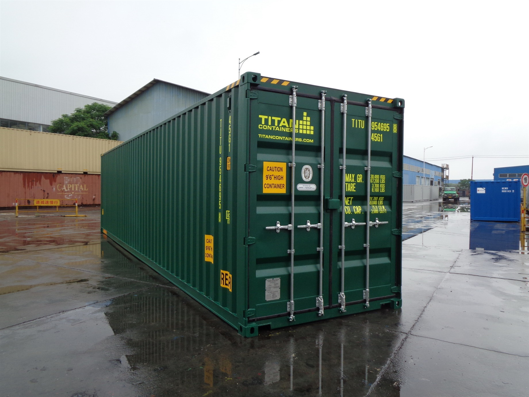 Storage Container with doors on each end closed doors 40 outside