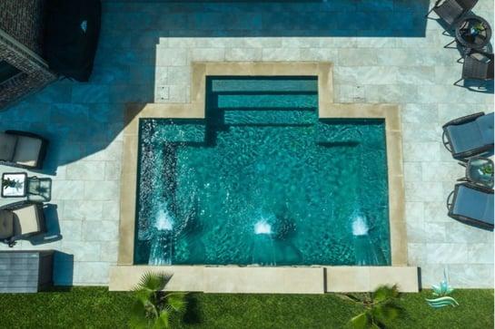 Straight-Line Pool Designs
