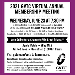 Mark your Calendars for GVTC's First-Ever Virtual Annual Meeting