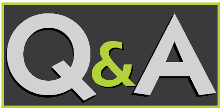Q&A letters on black background