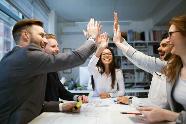 gelukkige medewerkers