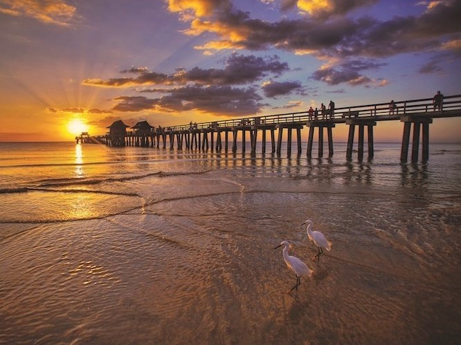 Naples FL Fishing Pier at Sunset