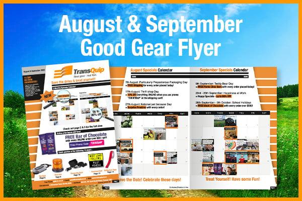 August & September Good Gear Flyer