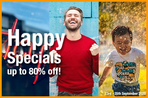 Happy Specials - up to 80% off!