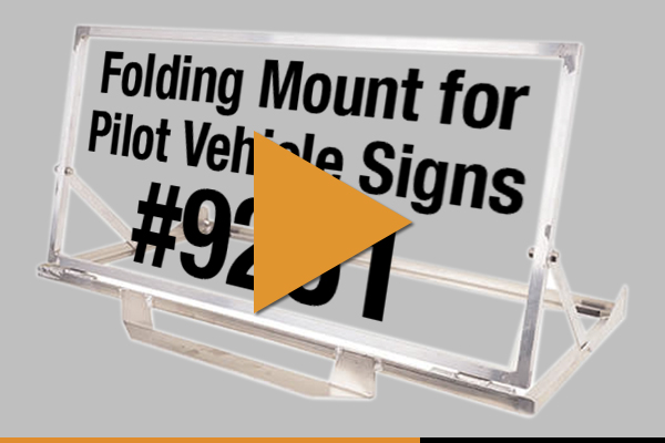 Folding Mount for Pilot Vehicle Signs #9251