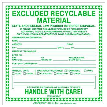 non hazardous waste examples
