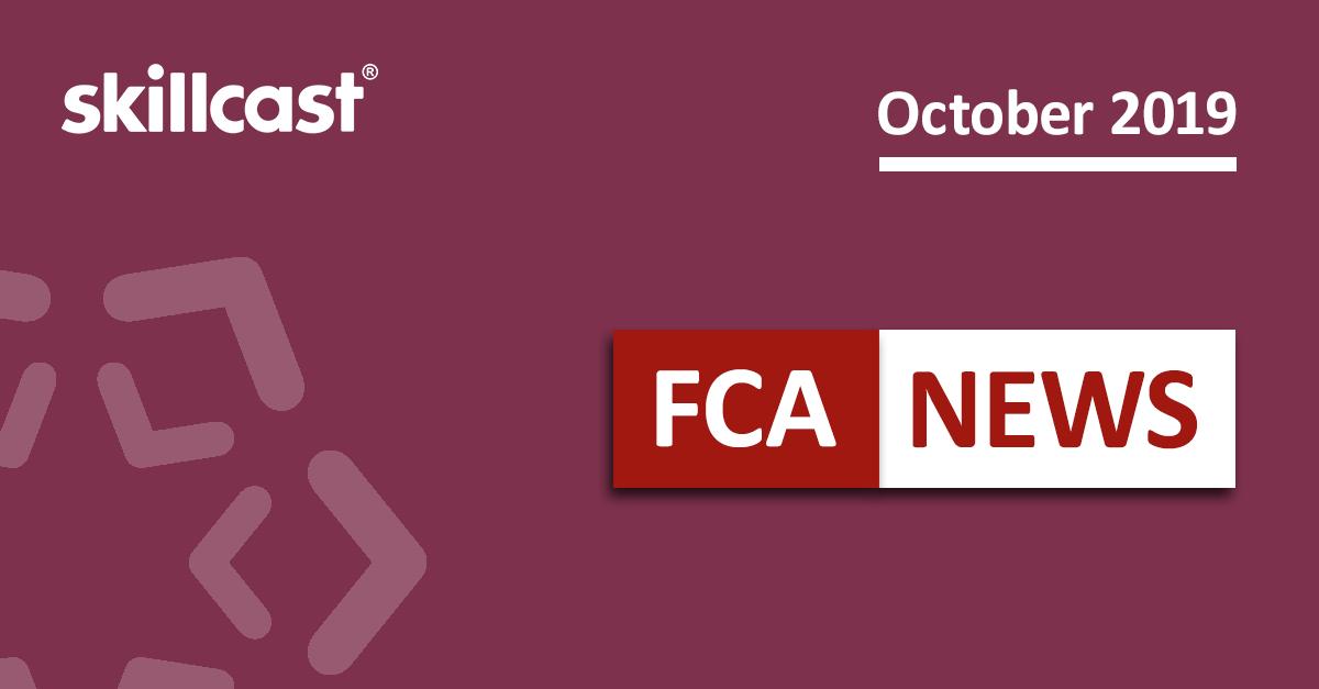 FCA Compliance News – October 2019