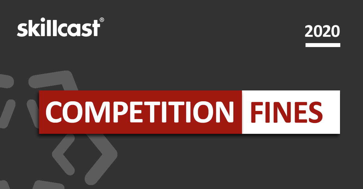 Biggest Competition Law Fines of 2020