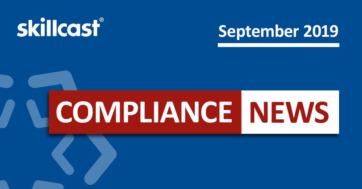 Compliance News - September 2019
