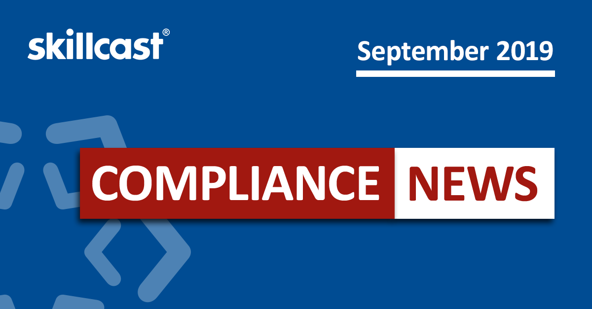Compliance News - September 2019
