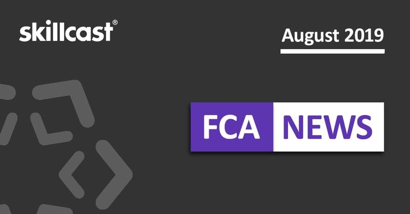 FCA Compliance News – August 2019