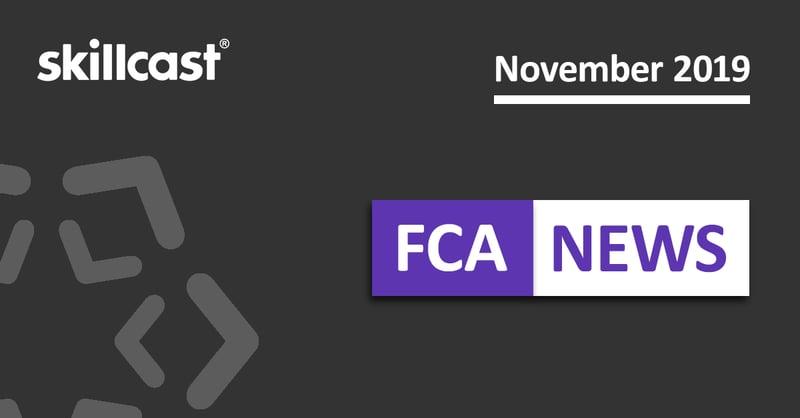 FCA Compliance News – November 2019