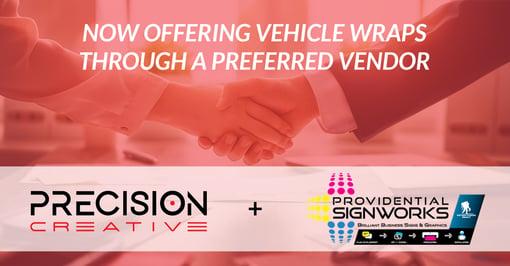 Precision Creative Announces New Vehicle Wrap Partnership