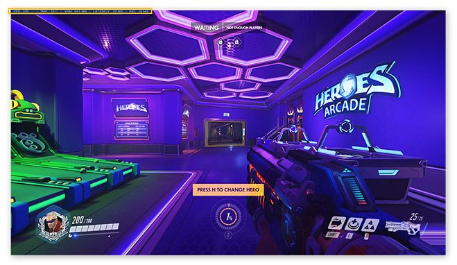 Viewing graphics information in Overwatch for Windows 10