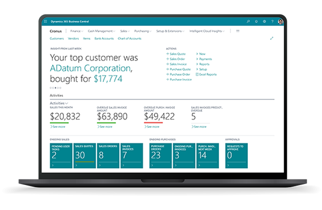 Microsoft Dynamics 365 Business Central Screenshot