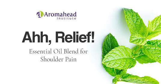 Ahh Relief essential oil blend for shoulder pain