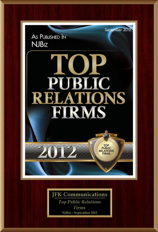 JFK NJBIZ Top PR Firm