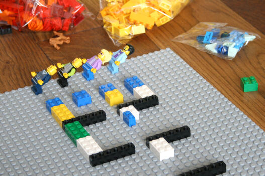 Visualise interruptions on a LEGO Wall