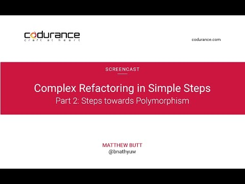 Complex refactoring in simple steps Part II