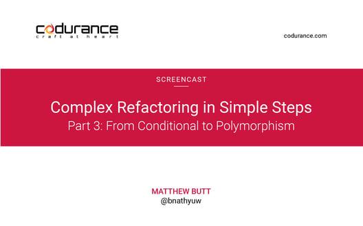 Complex refactoring in simple steps Part III