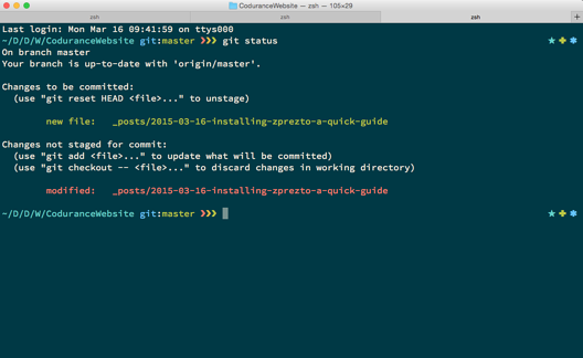 How to install Prezto with Zsh for your OS X Terminal