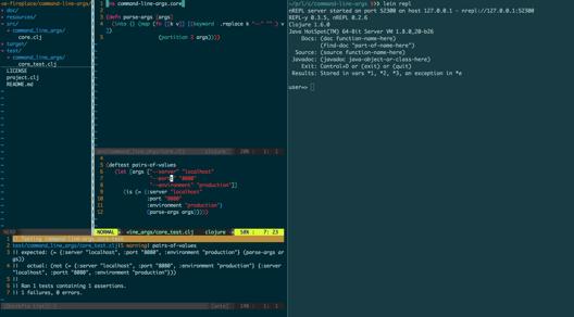 Clojure VIM Environment