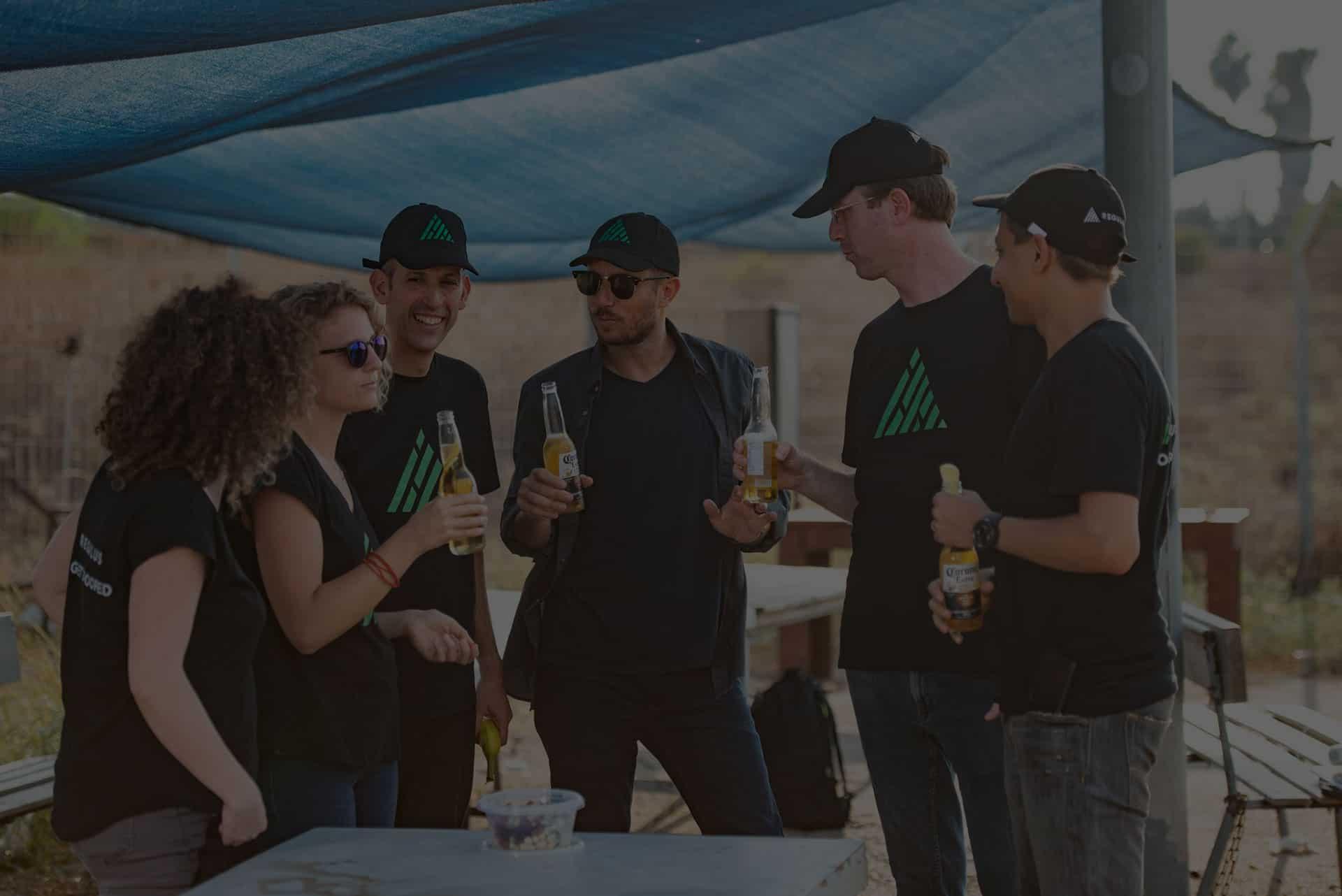 Regulus Team Drinking Beer
