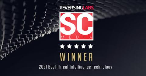 ReversingLabs Selected as the Best Threat Intelligence Technology WINNER in the 2021 SC Awards
