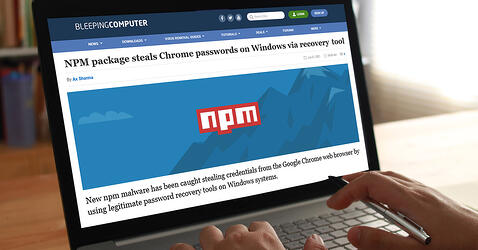 Bleeping Computer: NPM package steals Chrome passwords on Windows via recovery tool