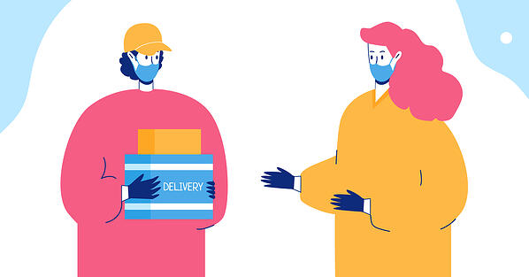 Contactless Delivery Between Courier and Customer